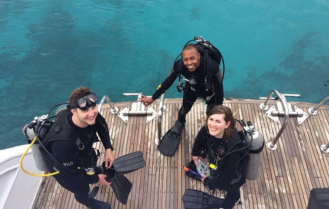 boat diving in the Red Sea